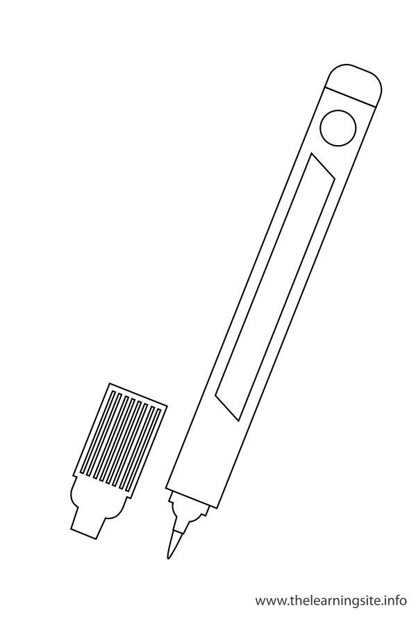 coloring-page-outline-classroom-objects-marker
