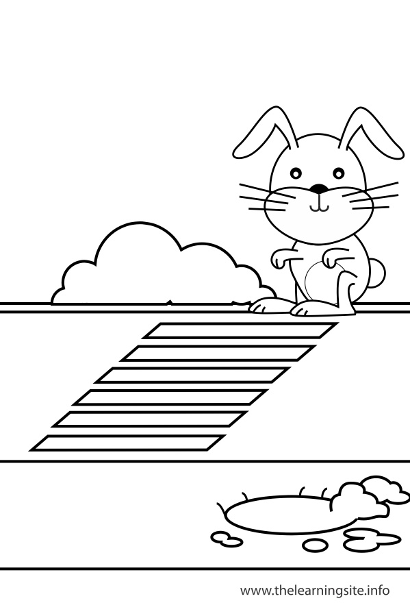 coloring-page-outline-preposition-rabbit-across-the-street-from-the-rabbit-hole