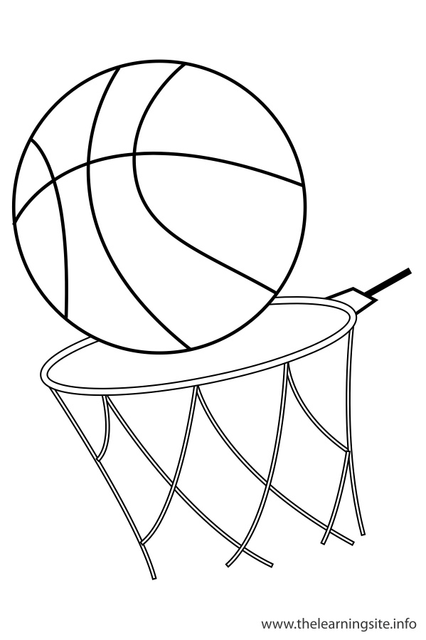 coloring-page-outline-sports-basketball