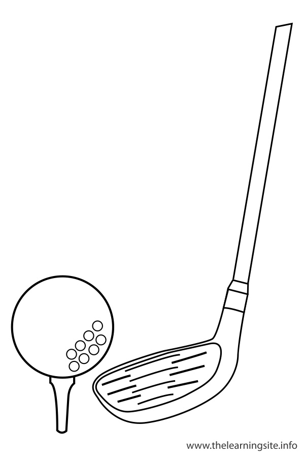coloring-page-outline-sports-golf-stick-and-golf-ball
