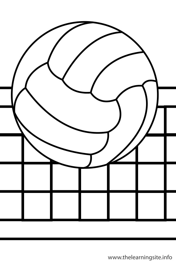 Coloring Page Outline Sports Volleyball