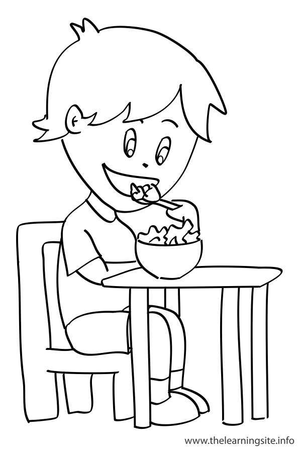 coloring-page-outline-verbs-eat