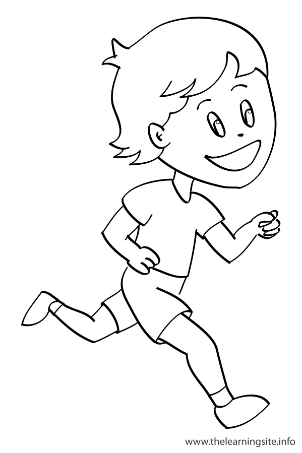 coloring-page-outline-verbs-run