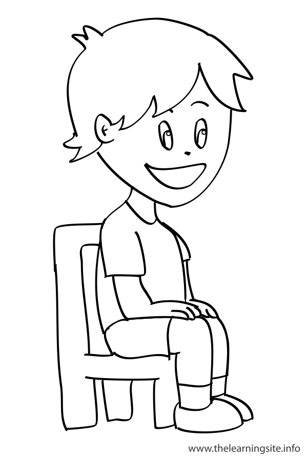 coloring-pages-outline-verbs-sit