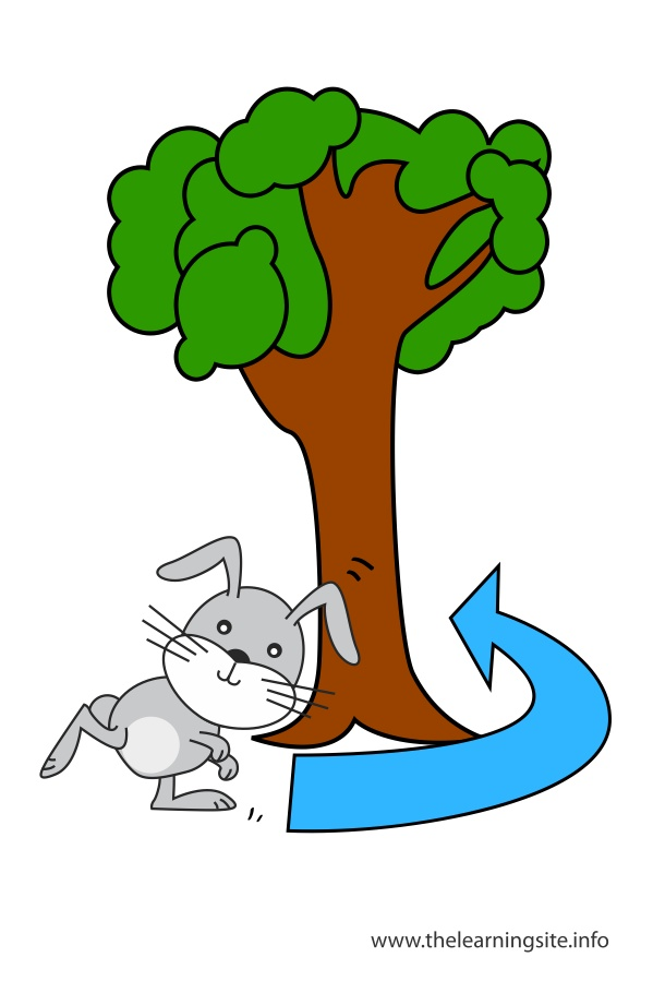 Near preposition clipart images for Around the tree