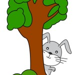 flashcard-preposition-behind-rabbit-behind-a-tree