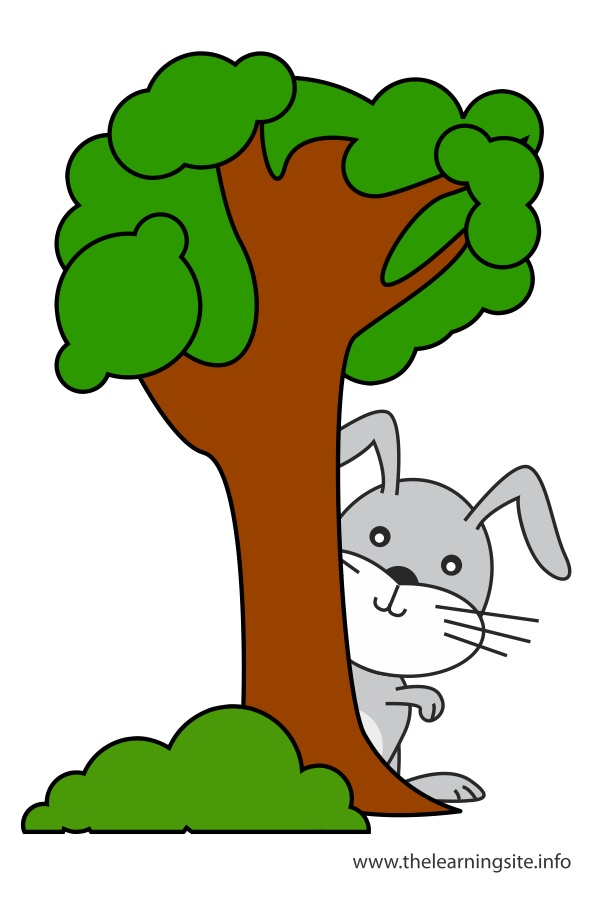 flashcard-preposition-behind-rabbit-behind-a-tree: thelearningsite.info/content/behind-flashcard