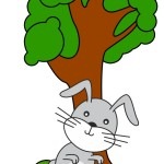 flashcard-preposition-infronof-rabbit-in-front-of-a-tree