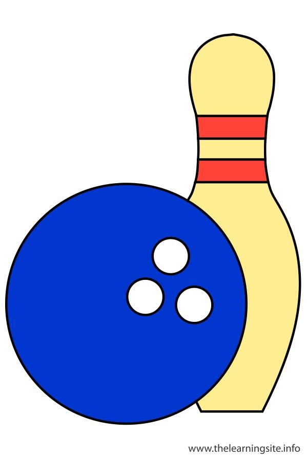 flashcard-sports-bowling-ball-and-bowling-pins
