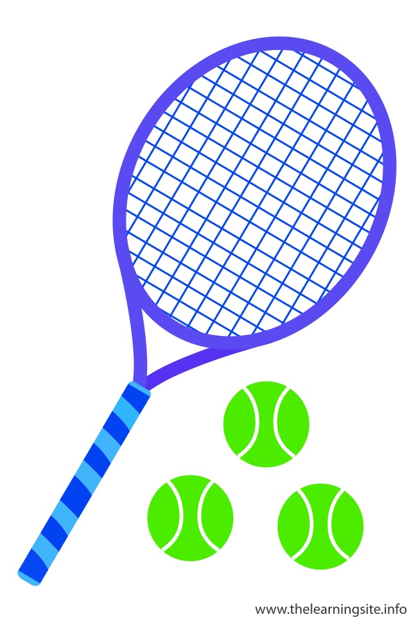 flashcard-sports-tennis-raquet-and-ball