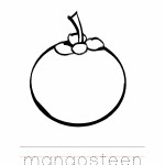 Mangosteen Coloring Page Outline