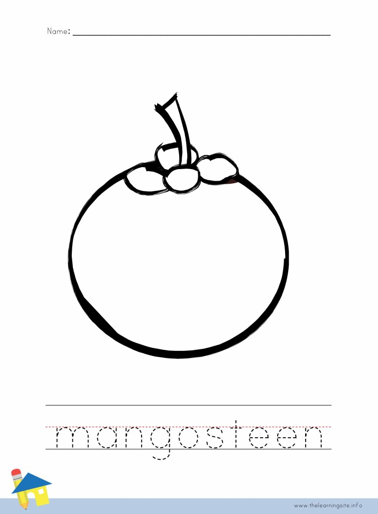 mangosteen coloring pages - photo#8