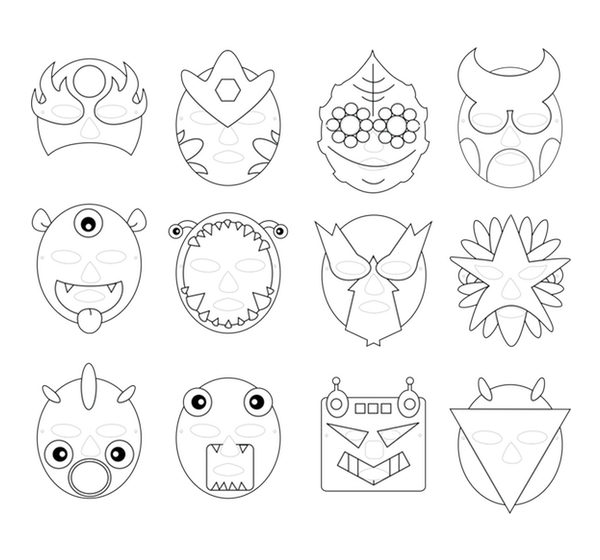 outline masks preview
