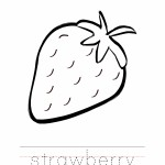 Strawberry Coloring Worksheet