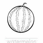Watermelon Coloring Page Outline