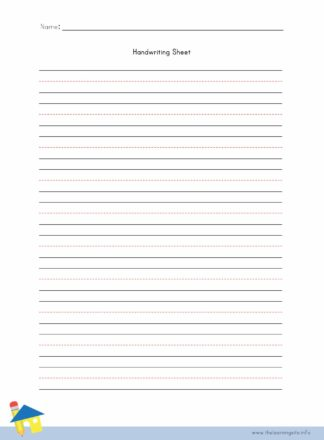 Handwriting Sheet - 10 Lines with Title