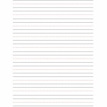 Handwriting Sheet – 10 Lines without Title