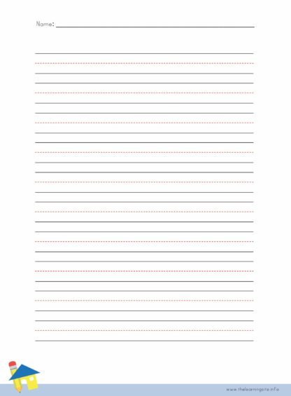 Handwriting Sheet - 10 Lines without Title