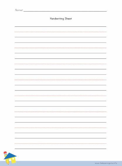 Handwriting Worksheet 8 Lines