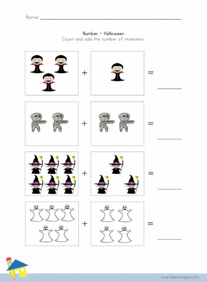 Halloween Number Worksheet 2