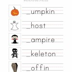 Halloween Writing Worksheet 1