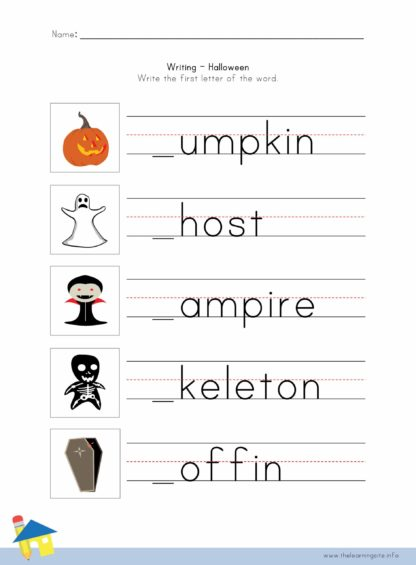 Halloween Writing Worksheet 1