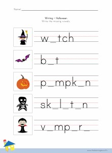 Halloween Writing Worksheet 3