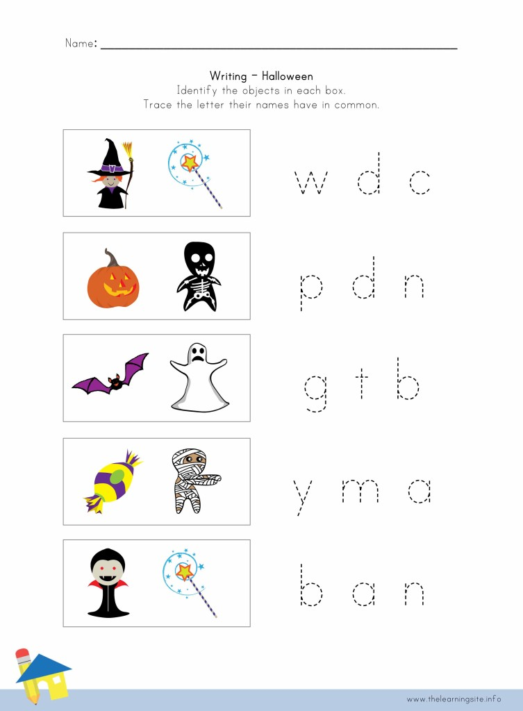 Halloween Writing Worksheet 4
