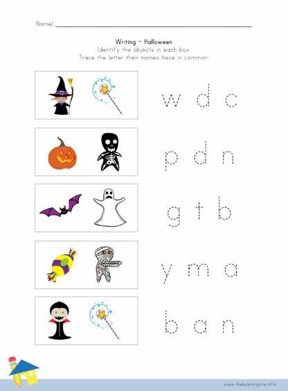 Halloween Writing Worksheet 4