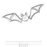 Bat Coloring Worksheet