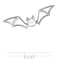 Bat Coloring Worksheet