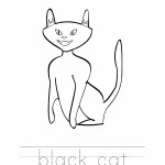 Black Cat Coloring Worksheet