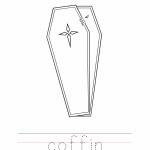 Coffin Coloring Worksheet
