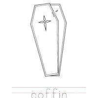 Coffin Coloring Worksheet