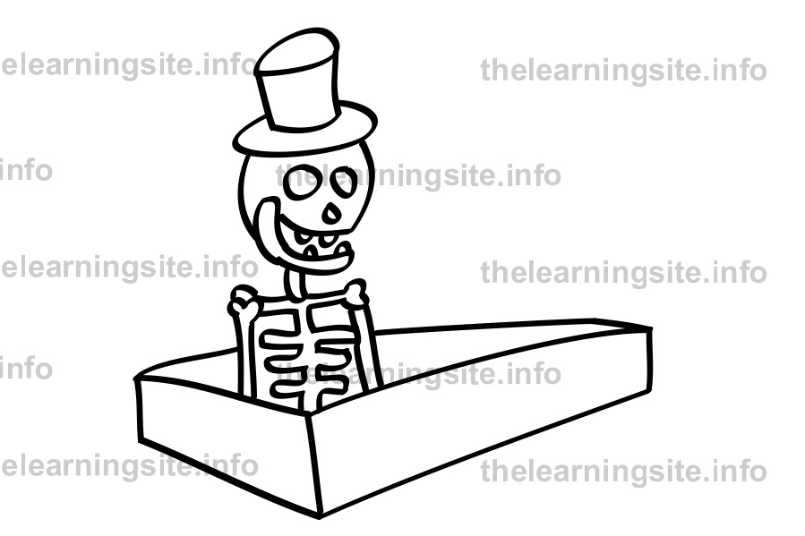 coloring-page-outline-skeleton-sample