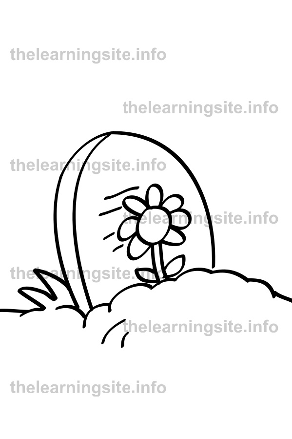 coloring-page-outline-tombstone-sample