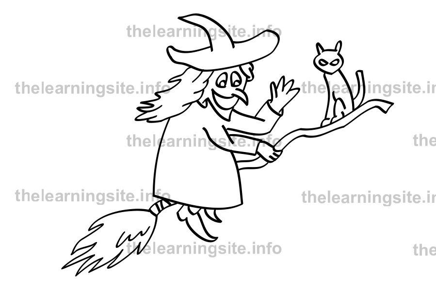 coloring-page-outline-witch-sample