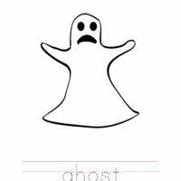 Ghost Coloring Worksheet