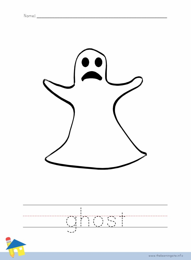 Ghost Coloring Worksheet