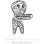 Mummy Coloring Worksheet