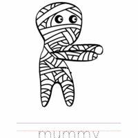 Mummy Coloring Worksheet