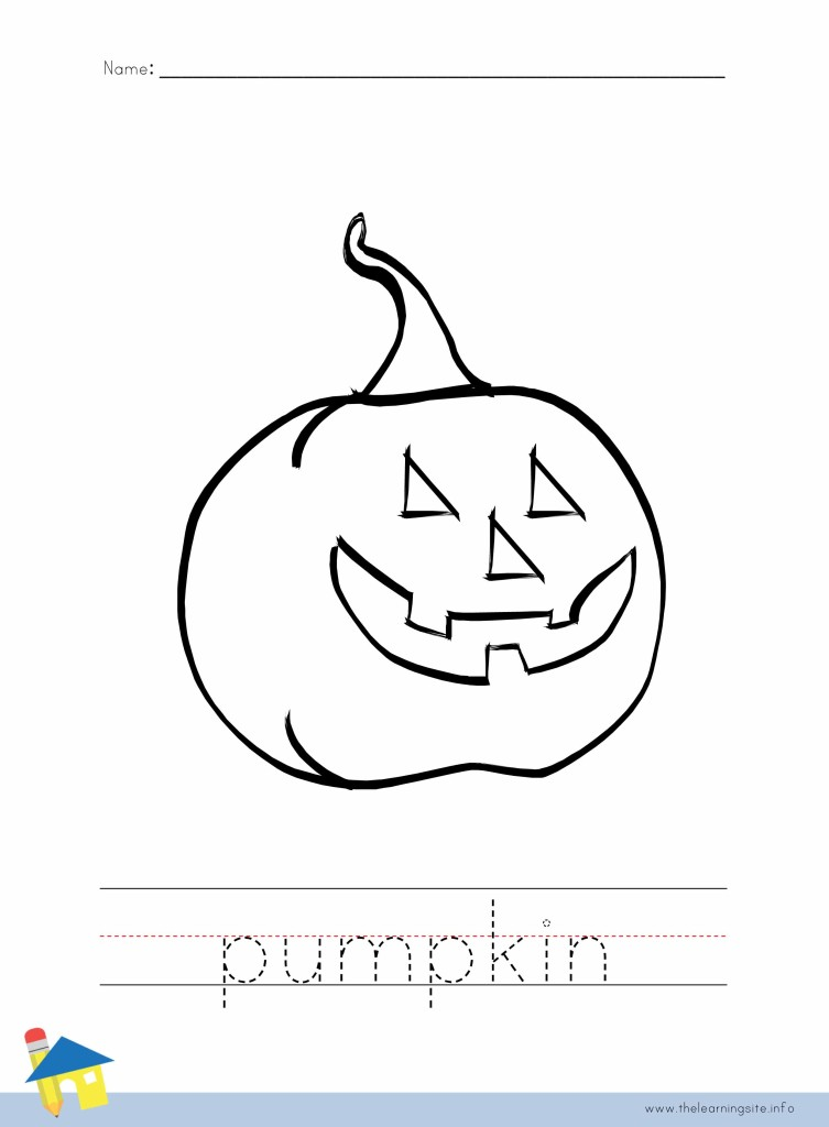 Pumpkin Coloring Worksheet