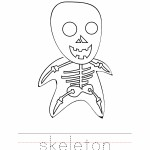 Skeleton Coloring Worksheet
