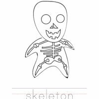 Skeleton Coloring Worksheet