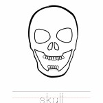 Skull Coloring Worksheet
