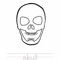 Skull Coloring Worksheet