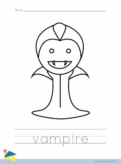 Vampire Coloring Worksheet