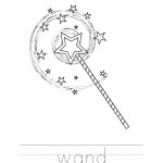 Wand Coloring Worksheet