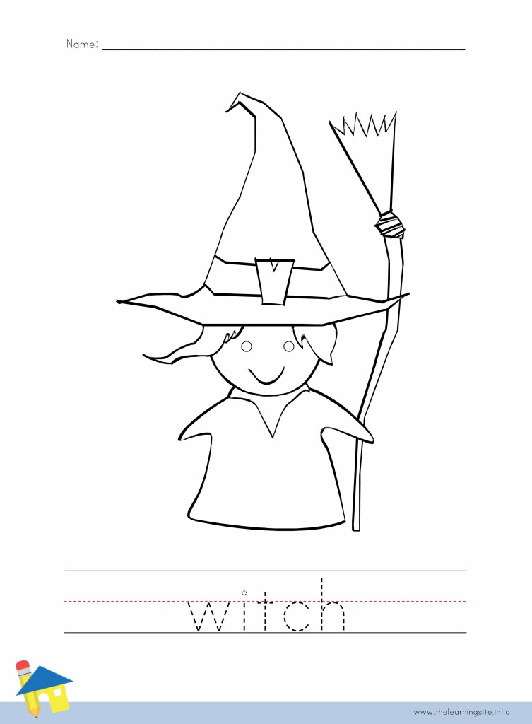 Witch Coloring Worksheet