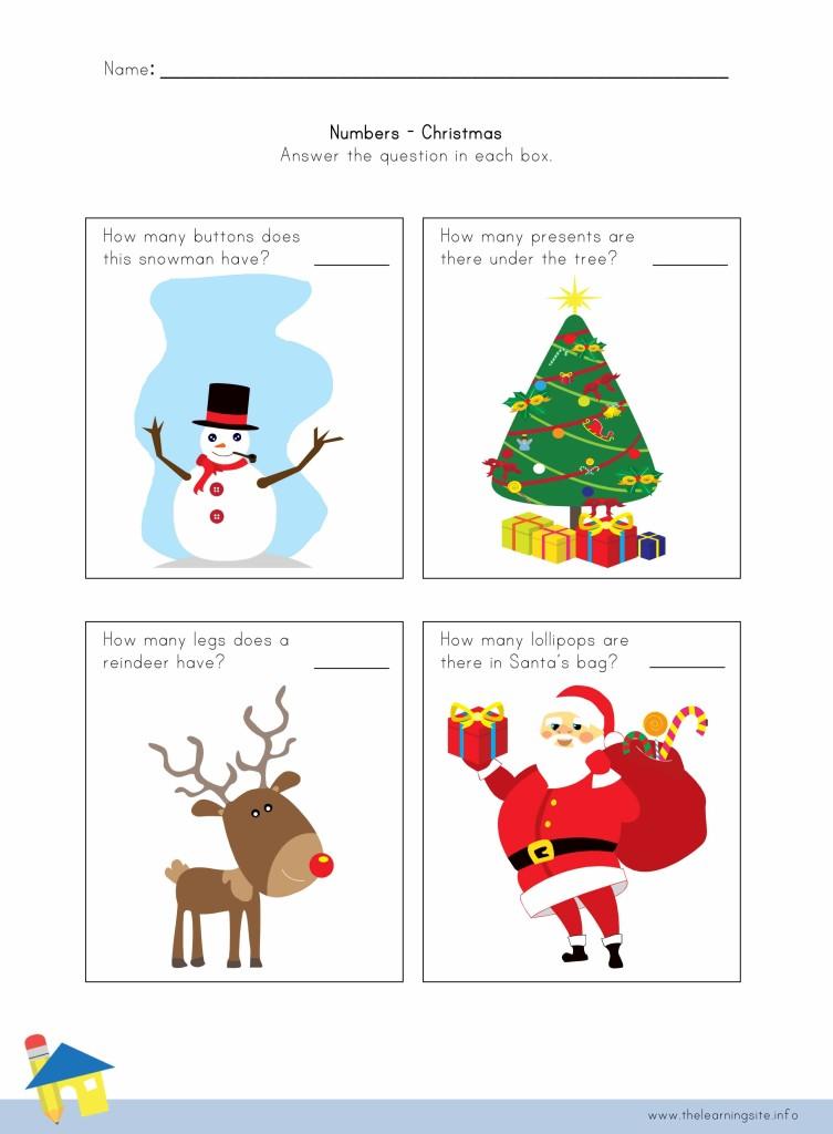 Christmas Number Worksheet 1